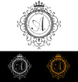 Letter A Luxury Logo template flourishes vector image vector image