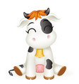 little baby cow 3d cute calf toy cub cartoon vector image vector image