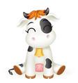 little bacow 3d cute calf toy cub cartoon vector image vector image