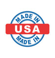 made in usa emblem flat vector image vector image