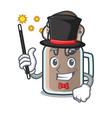 magician milkshake mascot cartoon style vector image vector image