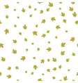 maple leaf green pattern seamless vector image