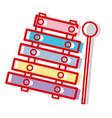 marimba music instrument to melody harmony vector image vector image