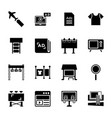 marketing glyph icons vector image