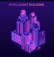 modern intelligent building concept background vector image