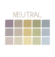 Neutral Color Tone without Code vector image vector image
