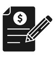 pen check report icon simple style vector image vector image