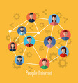 people internet connection network media community vector image vector image