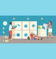public laundry flat composition vector image