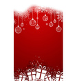 Red vertical Christmas backgroun vector image vector image