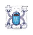 robot cartoon design vector image