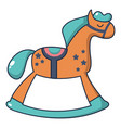 rocking horse icon cartoon style vector image
