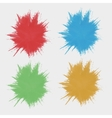 Set of colored spots of paint Silhouettes the vector image