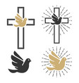 set of dove icons religious signs vector image vector image