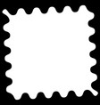 shape with wavy zigzag edges to clip photos vector image vector image