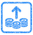 spend dash coins framed stamp vector image vector image