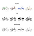 sports bike and other typesdifferent bicycles set vector image