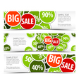 spring horizontal banners vector image vector image