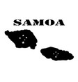 symbol of isle of samoa and map vector image vector image