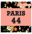 t-shirt floral paris graphic with lily flowers vector image vector image
