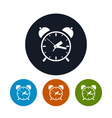 The alarm clock icon vector image