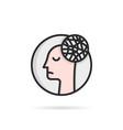 thin line head like depression chaos vector image