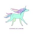 Unicorn icon character 03 vector image vector image