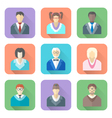 various flat design people in glasses icons set vector image vector image