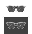 vintage monochrome detailed sunglasses vector image vector image