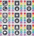 Volume Gift Dropbox RSS Marijuana Monitor Signpost vector image vector image