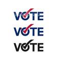 vote logos vector image vector image