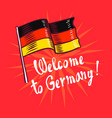 welcome to germany concept background hand drawn vector image