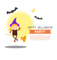 witch halloween info vector image vector image