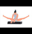 woman gymnast character creative vector image