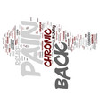 z chronic back pain relief text background word vector image vector image