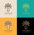 coconut logo or symbol vector image