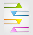 Abstract geometric web sticker banners vector image vector image