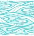 Abstract hand drawn waves background vector image vector image