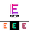 abstract letter e logo design template line vector image vector image