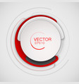 abstract white and red circle for banner design vector image vector image