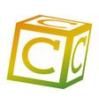 alphabet block toy education icon vector image vector image