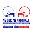 american football is history meetings vector image