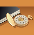 antique gold pocket watch vector image