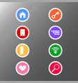 application icon button set graphic design for vector image