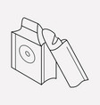 bakery packaging icon line element vector image