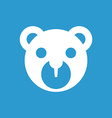 bear toy icon white on the blue background vector image vector image