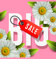 big sale lettering design background with daisy vector image