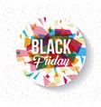 black friday sale design vector image