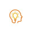 brain idea logo icon design vector image