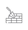 brickwork line icon concept brickwork vector image vector image